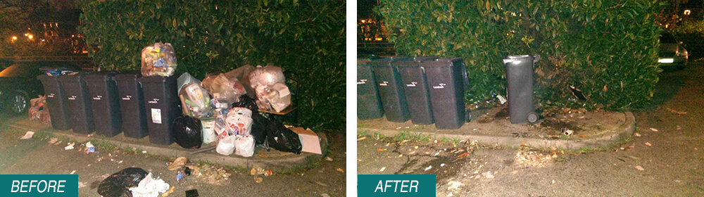 rubbish disposal SW12 Before After Photo