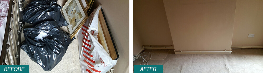 home junk removal Colliers Wood SW19 Before After Photo