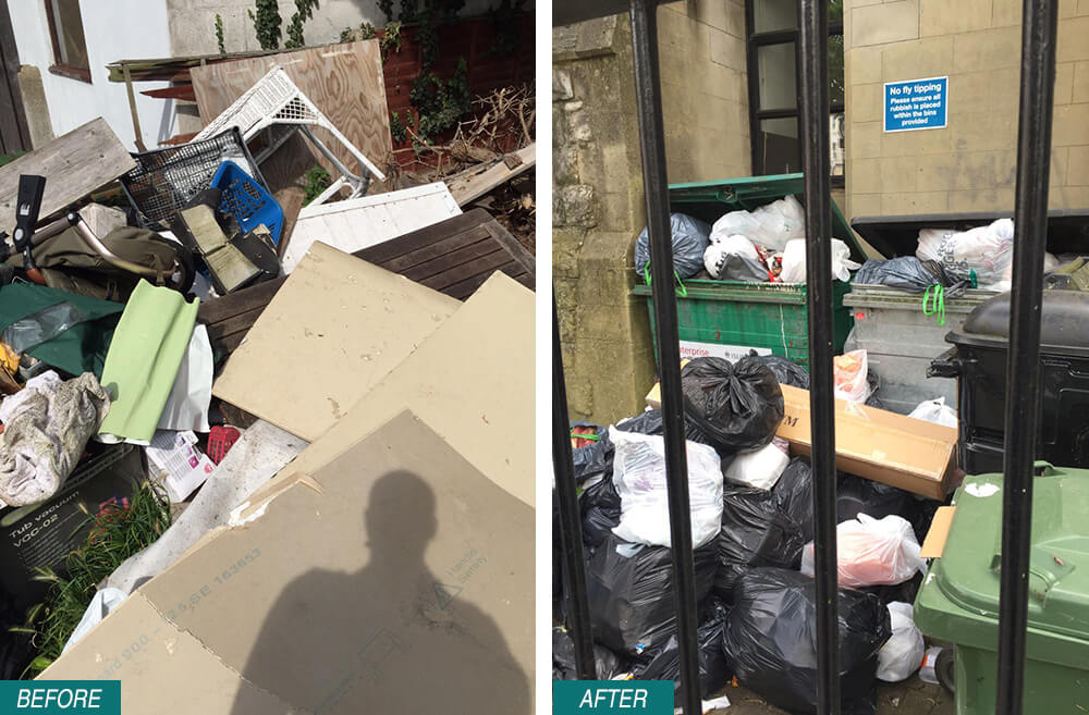 EN5 Rubbish Removal Barnet Before After Photo