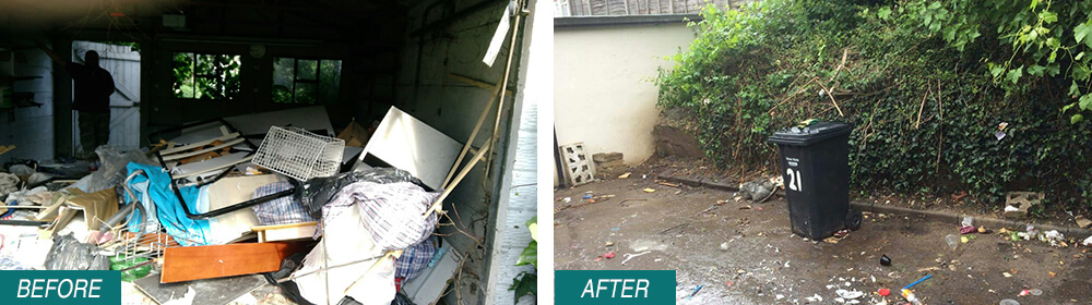 KT2 Rubbish Removal Kingston upon Thames Before After Photo