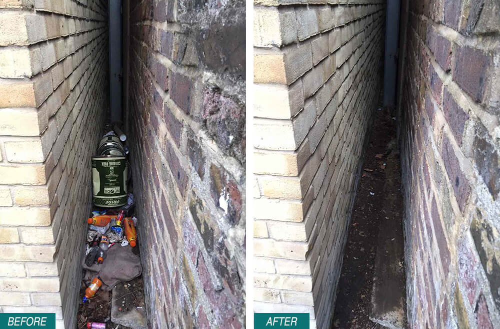 SE22 Rubbish Removal Dulwich Before After Photo