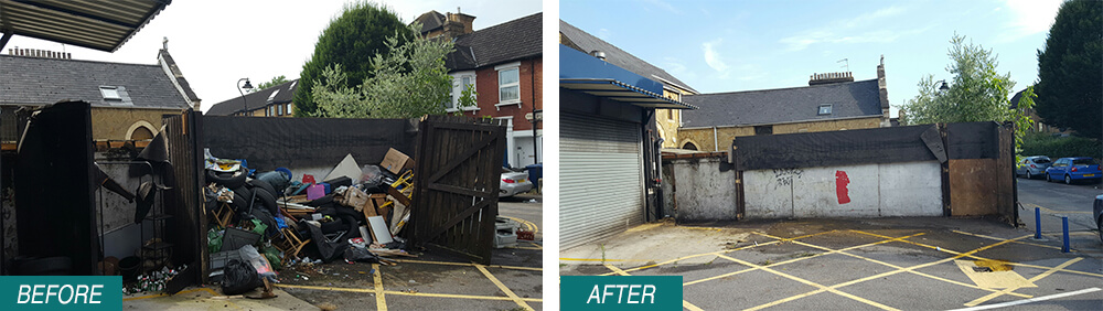 house recycling E3 Before After Photo