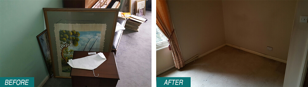 Sutton home waste removal SM1 Before After Photo