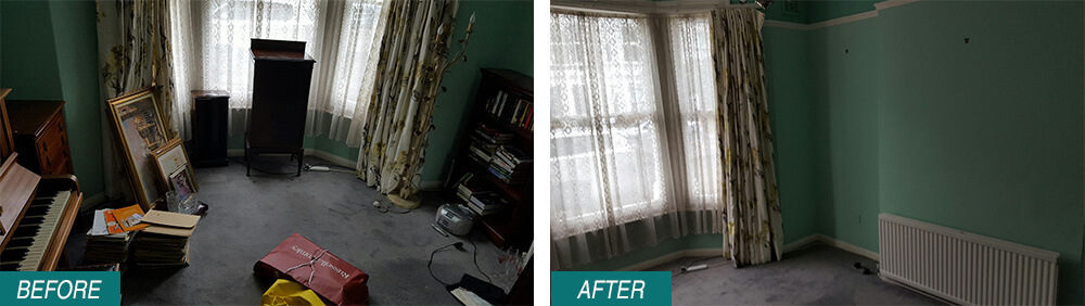 Waterloo home waste removal SW1 Before After Photo