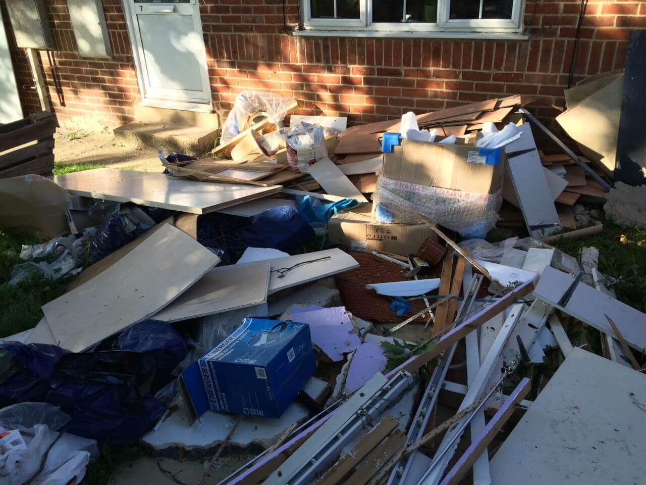 Sutton house rubbish disposal SM1